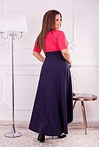 Платье с коротким рукавом большого размера, фото 3