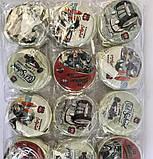 Детские круглые маленькие кошельки для мальчиков Машины 7*7 см, фото 3