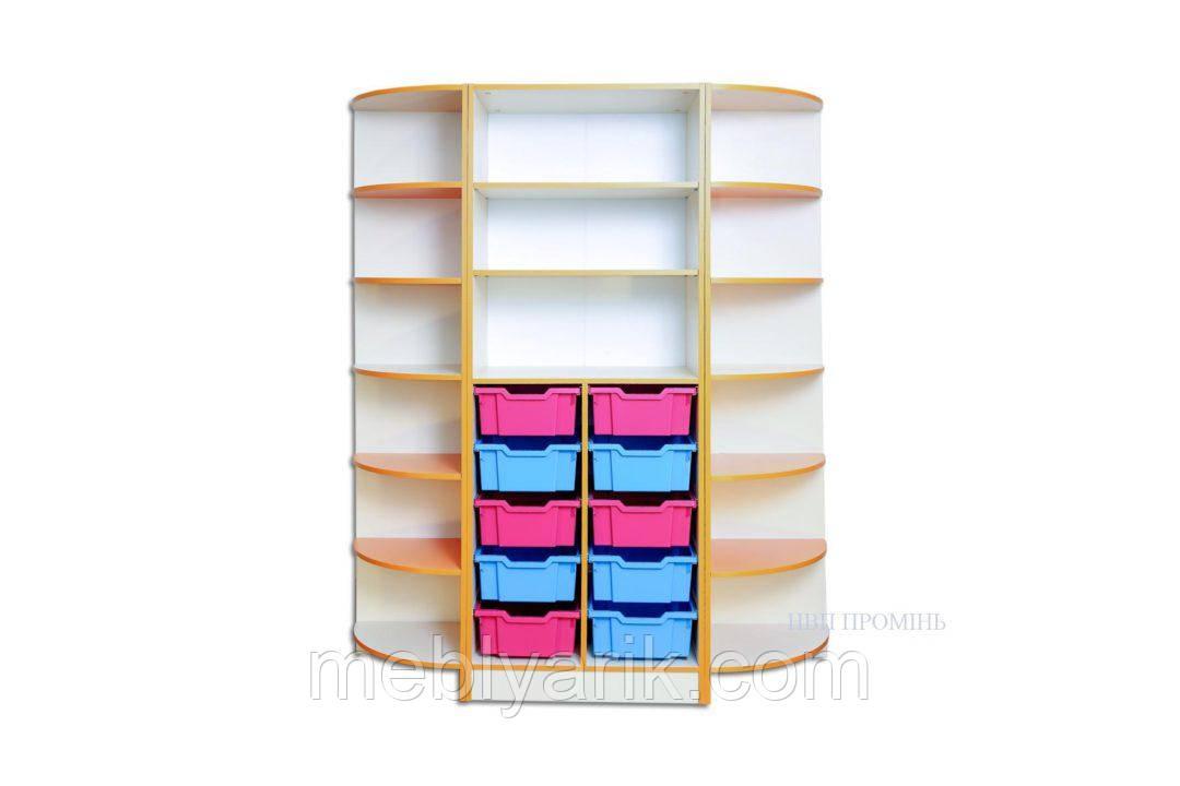 Набор шкафов для хранения дидактического материала 1520*440*1864 мм.