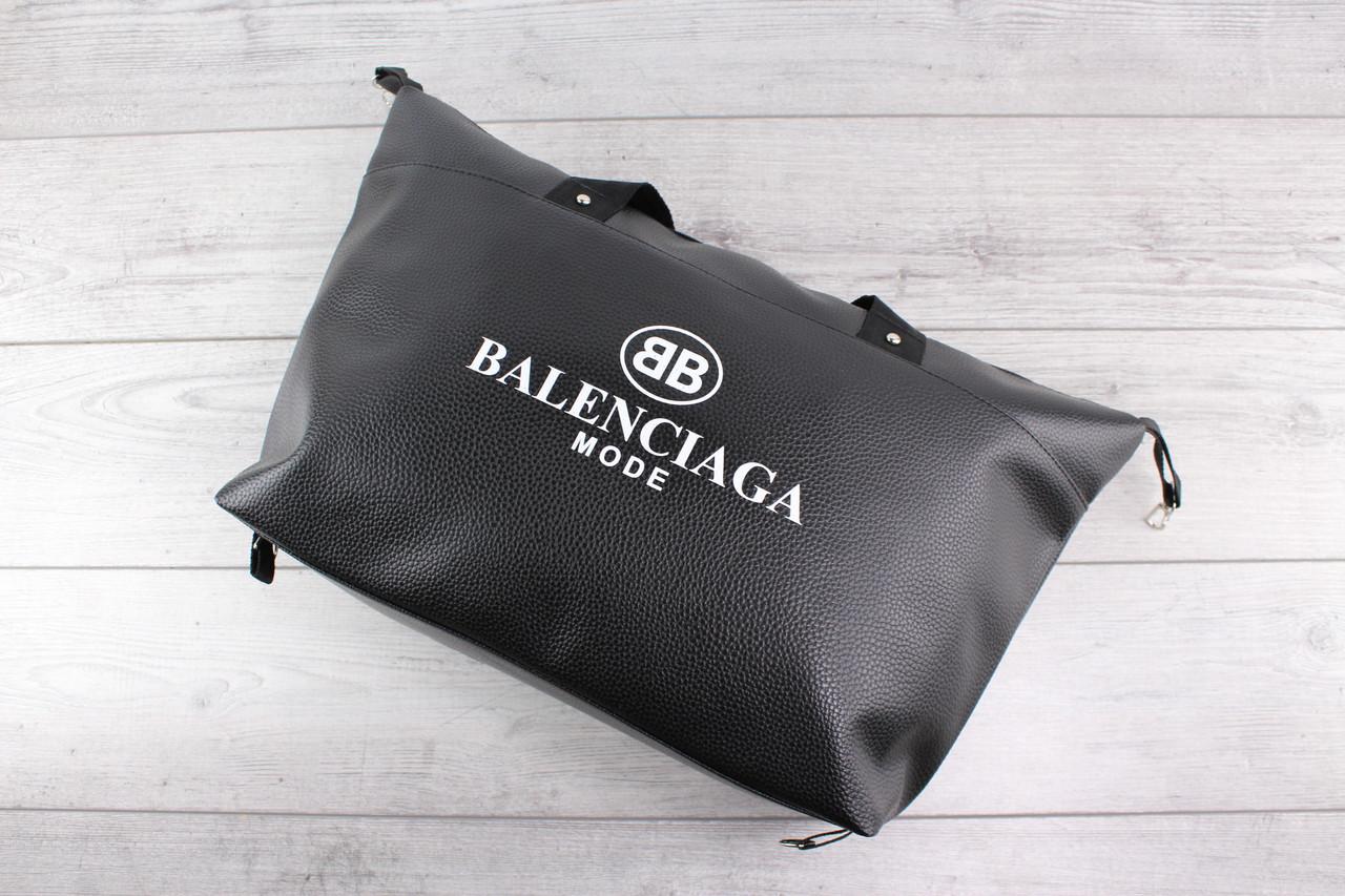 Женская сумка BALENCIAGA MODE (Баленсиага) - кожаная, большая, черная