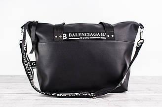 Дорожная сумка BALENCIAGA MODE (Баленсиага) - кожаная, большая, черная