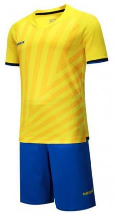 Детская Футбольная форма Europaw 016 желто-синяя , фото 2
