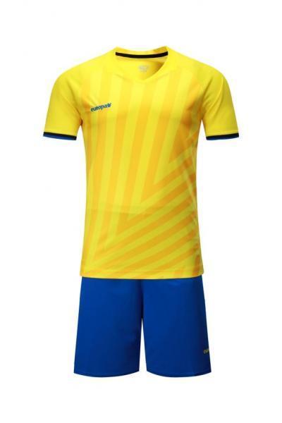 Детская Футбольная форма Europaw 016 желто-синяя