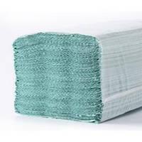 Полотенце бумажное V Макулатурное зеленое 160. Цена за ящик.