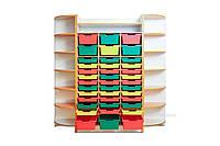 Набор шкафов для хранения дидактического материала 1830*440*1864 мм.