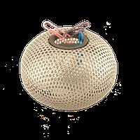 "Магнитная подставка для скрепок ""Шар"" 75х75х57мм, металлическая , серебро"