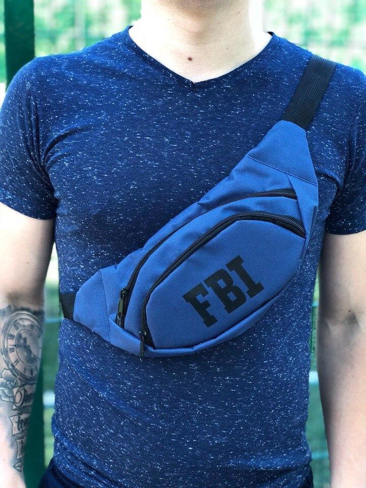 Мужская Бананка FBI синяя Опт/Розница