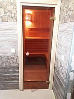 Двери для саун и бань (Украина) 80x190 (бронза)