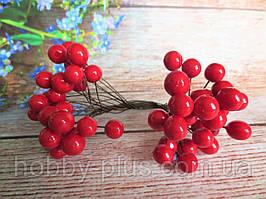 Калина глянцевая, цвет красный, 40 шт., d 12 мм