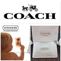 Знаменитое стальное зеркало Coach в серебряном чехле