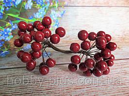 Калина глянцевая, цвет бордовый (МАРСАЛА), 50 шт., d 12 мм