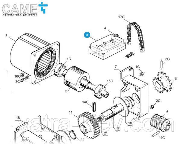 Came 119RIC002 корпус концевых выключателей для C100