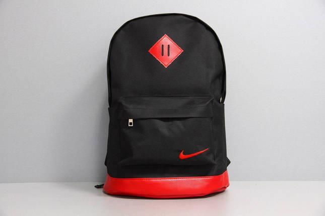 Рюкзак городской мужской, женский, для ноутбука   Nike (Найк) черный-красный, фото 2