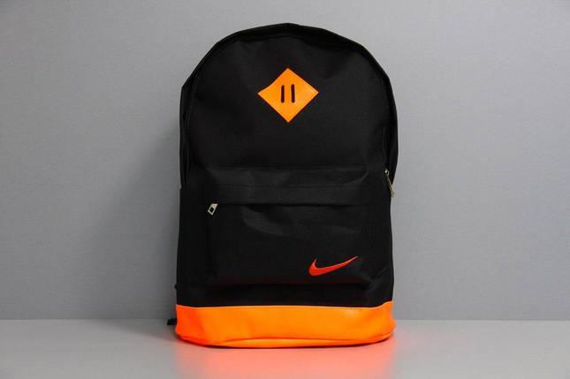 Рюкзак городской мужской, женский, для ноутбука   Nike (Найк) черный-оранжевый, фото 2