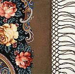 Исполнение желаний 1799-16, павлопосадский платок шерстяной (двуниточная шерсть) с шелковой вязаной бахромой, фото 7