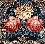 Исполнение желаний 1799-16, павлопосадский платок шерстяной (двуниточная шерсть) с шелковой вязаной бахромой, фото 5