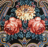 Виконання бажань 1799-16, павлопосадский хустку вовняної (двуниточная шерсть) з шовковою бахромою в'язаній, фото 5