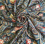 Исполнение желаний 1799-16, павлопосадский платок шерстяной (двуниточная шерсть) с шелковой вязаной бахромой, фото 6