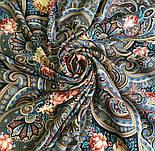 Виконання бажань 1799-16, павлопосадский хустку вовняної (двуниточная шерсть) з шовковою бахромою в'язаній, фото 6