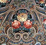Исполнение желаний 1799-16, павлопосадский платок шерстяной (двуниточная шерсть) с шелковой вязаной бахромой, фото 8