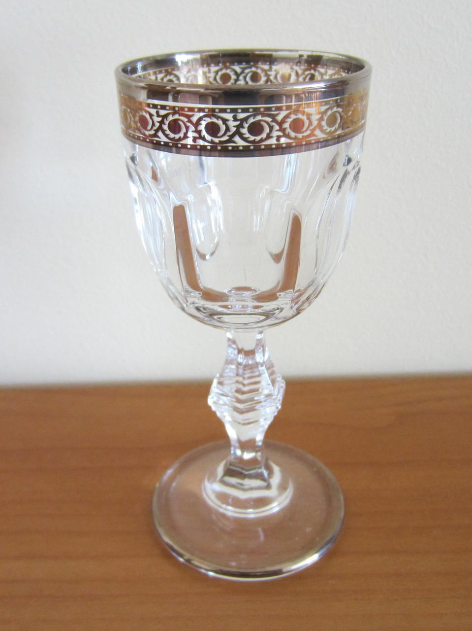 Набор рюмок Provenza, декорированный золотом и платиной