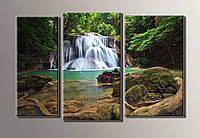"""Картина модульная на холсте """"Водопад"""" HAT-020"""