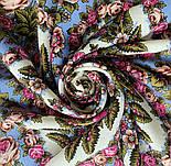 Ночь светла 1837-0, павлопосадский платок шерстяной  с шелковой бахромой, фото 8