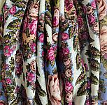 Ночь светла 1837-0, павлопосадский платок шерстяной  с шелковой бахромой, фото 6