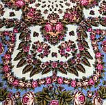 Ночь светла 1837-0, павлопосадский платок шерстяной  с шелковой бахромой, фото 4
