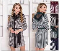 Полосатое платье рубашка, фото 1