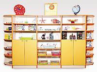 Набор шкафов для хранения дидактического материала 3380*460*1864 мм.