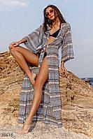 Трикотажная пляжная туника