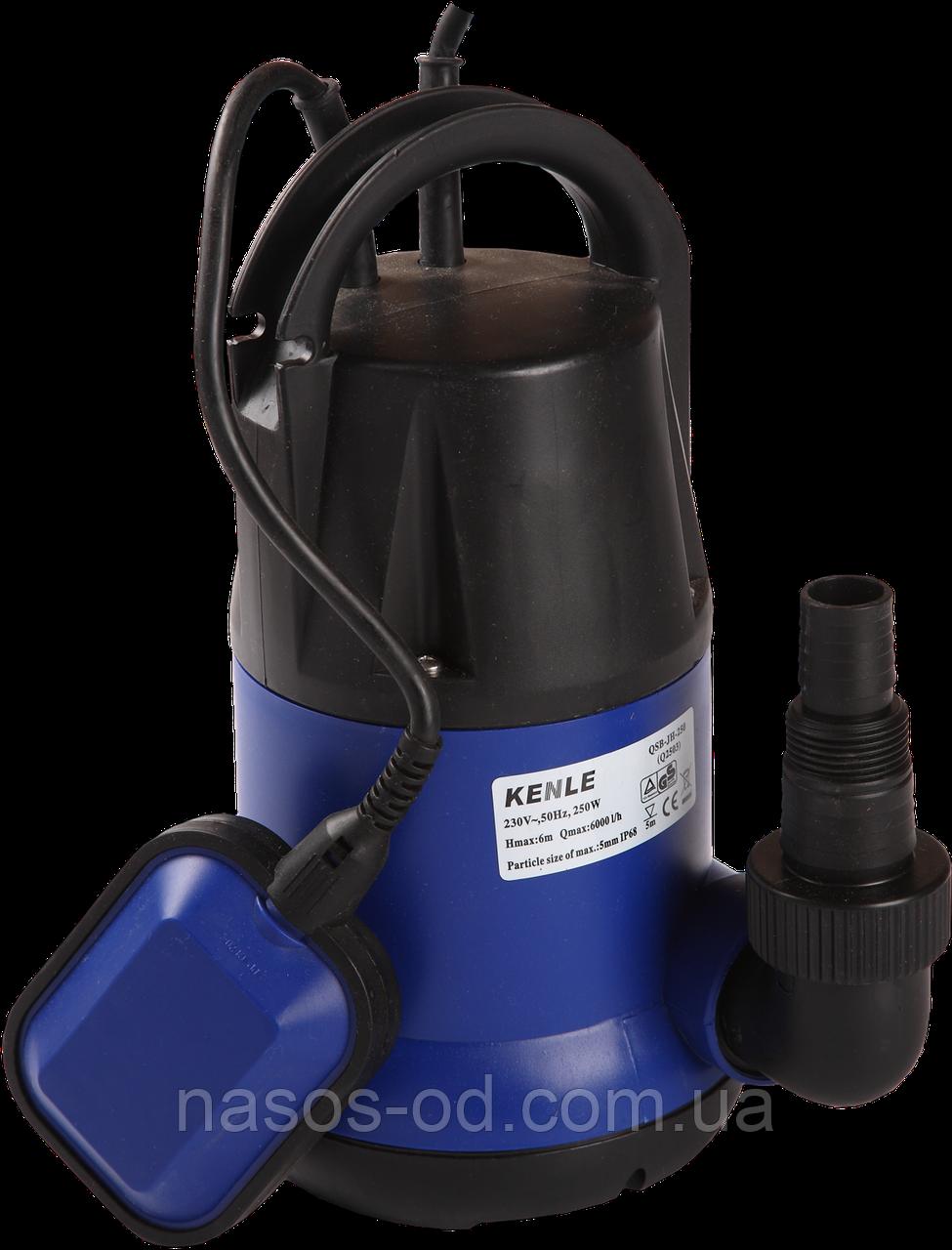 Дренажный насос Kenle NEK PN-203 садовый для колодцев 0.75кВт Hmax8м Qmax133л/мин