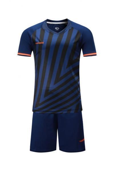 Детская Футбольная форма Europaw 016 т.сине-оранжевая