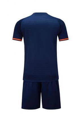Детская Футбольная форма Europaw 016 т.сине-оранжевая, фото 2
