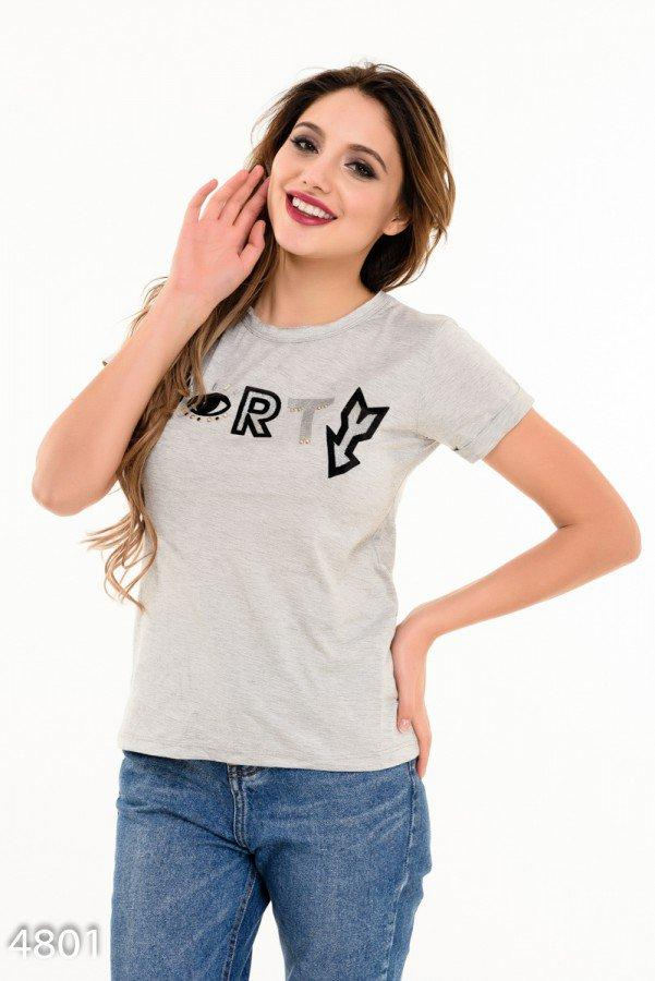 Серая футболка   Код - 4801