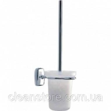 Щетка для унитаза подвесная хромированная, фото 2