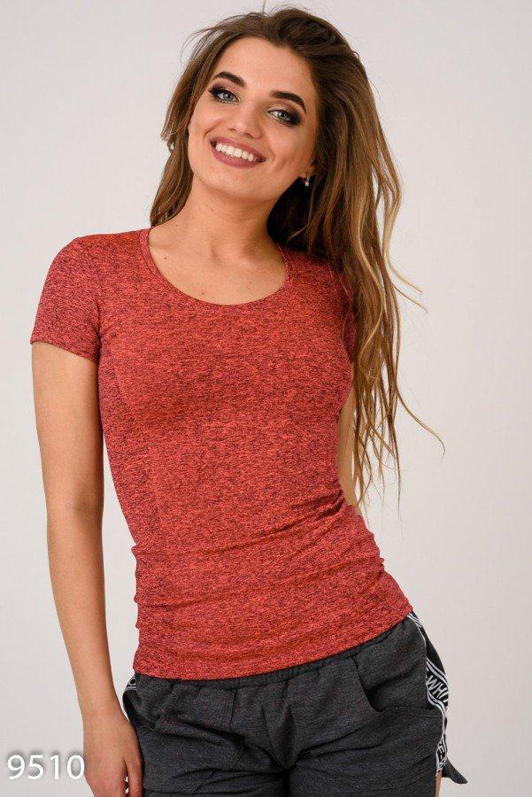 Розовая простая футболка для спорта  Код - 9510