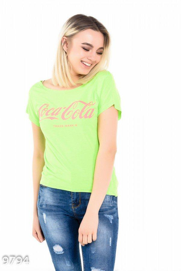 Салатовая футболка     Код - 9794
