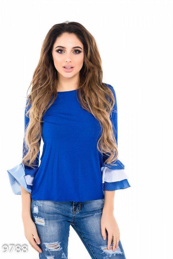 Ярко-синяя футболка     Код - 9788