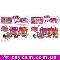 Кукольный дом ЛОЛ LOL Surprise TM736A/TM736B с героями, мебелью