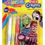 Карандаши с краской для лица 5 цветов, Colorino