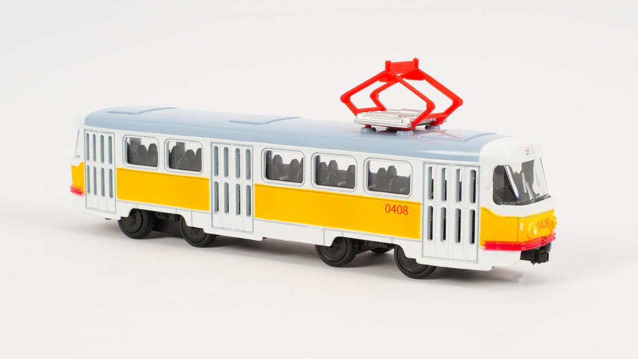 Трамвай PLAY SMART металлический. Двигается по инерции