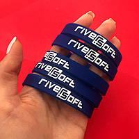 Силиконовые браслеты с печатью в один цвет