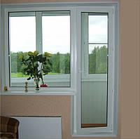 Откосы пластиковые на балконный блок 2100*2100 до 22см