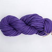 Толстая мериносовая пряжа Merino Mini, цвет Фиалка