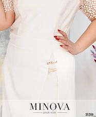 Платье женское нарядное летнее,размеры: 52-58, фото 3