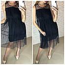 Шифоновое платье на лето с поясом и без рукавов 41plt2566, фото 2