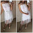 Шифоновое платье на лето с поясом и без рукавов 41plt2566, фото 3