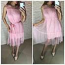 Шифоновое платье на лето с поясом и без рукавов 41plt2566, фото 4